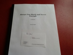 This is the copy of my manuscript that my book editor sent to my video editor. Soon, it will be a book-book.