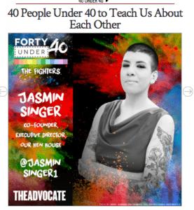 Jasmin Singer The Advocate 40 Under 40